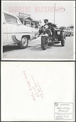 Vintage 1950s Photo Huntington Park Police Harley Davidson Motorcycle 273032