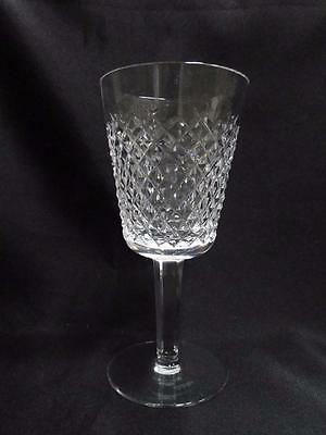 """Waterford Crystal Alana, Cut Cross Hatch: Water Goblet (s), 6 7/8"""" Tall"""