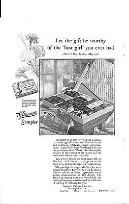 Whitman's Chocolates Mother's Day, Sunday May 13Th 1928 Print Ad