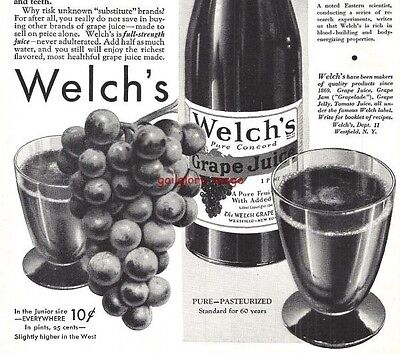 1932 Welch's Grape Juice Vintage Print Ad Makers Of Quality Products Since 1869