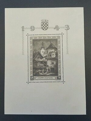Croatia - Ndh 1943 - Stamp Exhibition Zagreb - S / Sheet With Engravers Sign Mnh