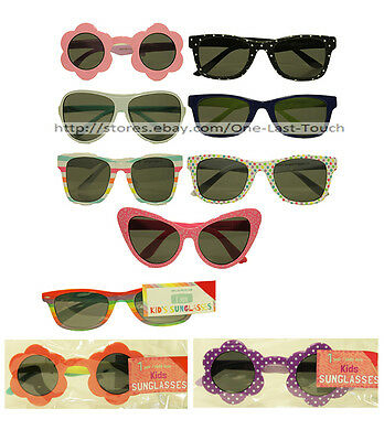 KID'S SUNGLASSES* 1 Pair ONE SIZE Flower+Polka Dots+Leopard+More *YOU CHOOSE*