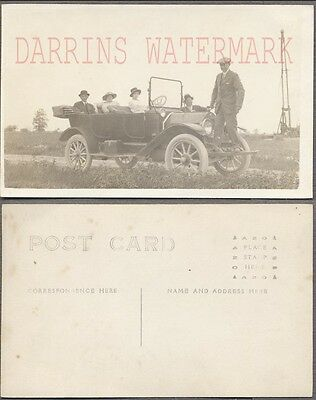 Vintage Car Photo Postcard Family w/ 1913 Maxwell Automobile 757251