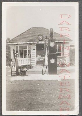 Vintage Photo Roadside Atlantic Service Station Gas Pump 757148