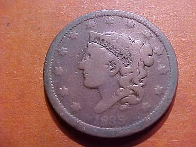 Lot # 6744 Large Cent 1838 Good Condition Coronet Head