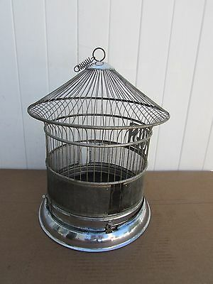 "Vintage Hendryx Birdcage BIRD CAGE 18"" Tall Chrome......Great looker"
