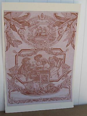"""VINTAGE COCOA CHOCOLATE TAPESTRY 22.5 x 31"""" CUTE"""