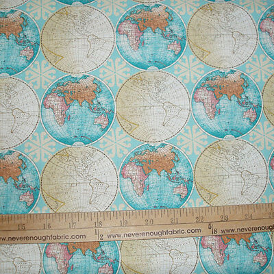 Vintage paris land mark map french pink cotton fabric bthy 545 cotton fabric vintage globes world map travel vacation bty gumiabroncs Choice Image