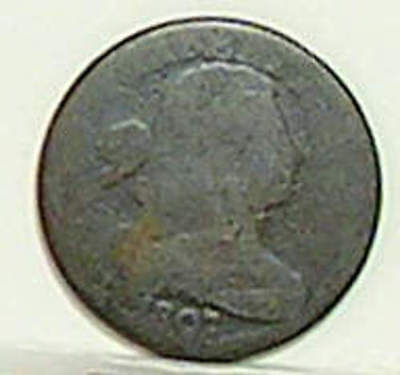 Large Cent; DRAPED BUST; 1807