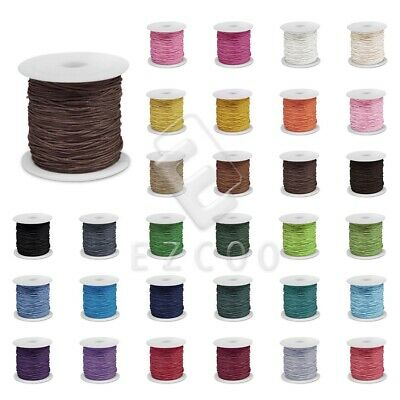 70M 0.8/1/1.5/2mm Waxed Cotton Cord Thread Beading Jewelry Making Leathercraft