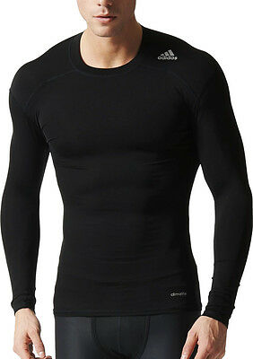 Adidas Tech-Fit Base Long Sleeve Mens Compression Top - Black