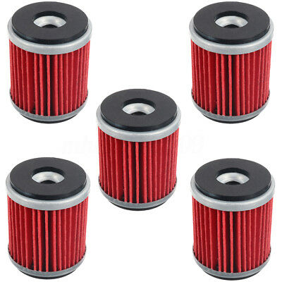 5pcs Oil Filter For Yamaha WR250F WR450F YZ250F YZ450F