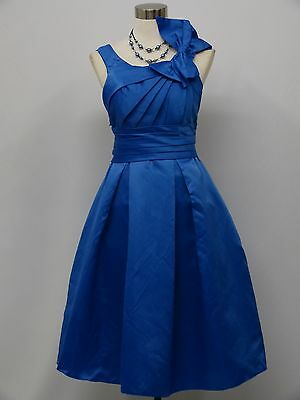 Cherlone Plus Size Blue Prom Party Ball Evening Bridesmaid Knee Length Dress
