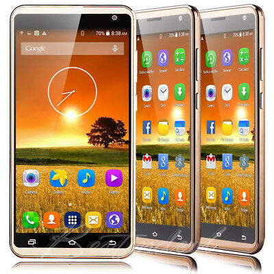 "2017 Unlocked 5.5"" Mobile Phone Android 5.1 Quad Core Dual SIM 3G Smartphone"