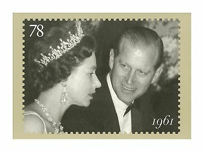 Hm Queen Elizabeth Ii & Duke Of Edinburgh At Film Premier In 1961 Phq Stamp Card