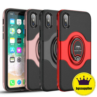 For iPhone XR X XS Max 6S 7 8 Plus Mosafe®Ultra Ring Holder Slim Hard Case Cover