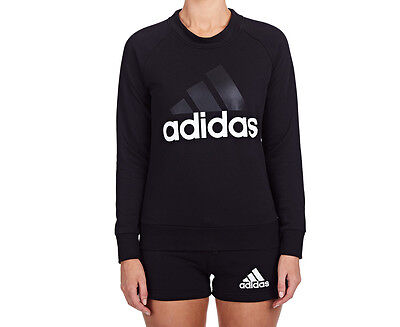 Adidas Women's Essentials Linear Sweater - Black