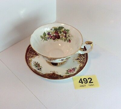 "Beautiful Vintage "" Elizabethan"" Staffordshire China Cup And Saucer"
