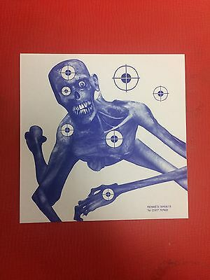 100 x 14cm PAPER Blue Colour ZOMBIE Top Quality Rifle Pistol Shooting Targets