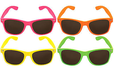 Neon Sunglasses Shades Hawaiian Beach BBQ Summer Beach 80s 90s Fancy Dress UV400
