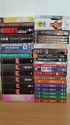 Joblot Bundle of 10kg Assorted DVD Box Sets 24 Heroes Shield Life on Mars Rocky
