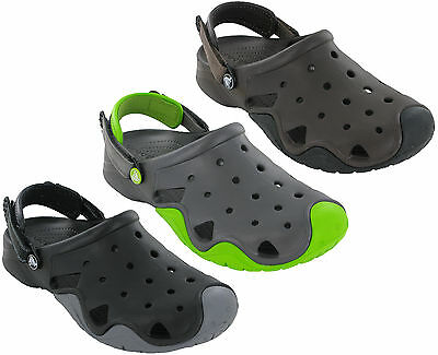 Crocs Swiftwater Clog Sandals Slip On Beach Adjustable Flat Strap Fastening