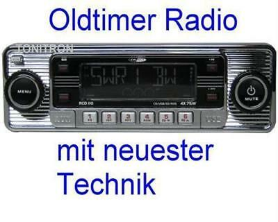 "Retro Look Radio""altes Autoradio""chrom Oldtimer Mercedes Benz W114 W115 /8"
