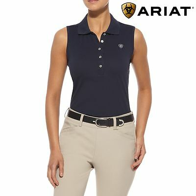 Ariat Womens Prix Sleevless Polo Shirt - FREE UK DELIVERY