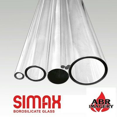 Glass - 33 COE - 12mm x 2.2mm OD Simax Clear Tubing Borosilicate - 10 Pieces