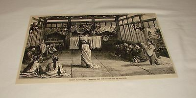 1886 magazine engraving ~ SHINTO SACRED OPERA, Japan