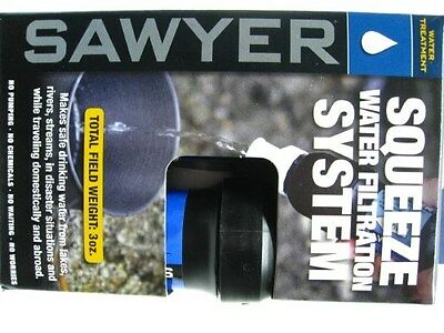 SAWYER Portable POINTONE Squeeze Water Filtration System w/ 32 oz. Pouch! SP129