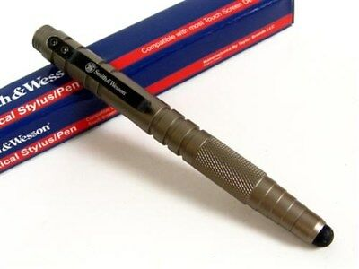 SMITH & WESSON S&W Silver SWPEN3S TACTICAL Stylus Pen Black Ink NEW!