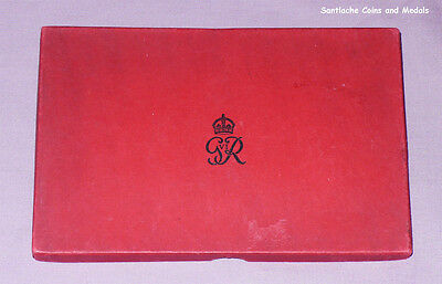 1937 Coronation Proof Set Coins - Royal Mint Card Case Only