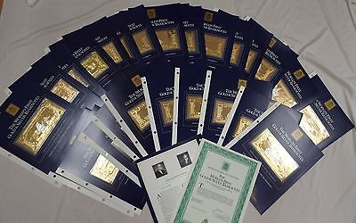World's First Gold & Silver Banknotes:Treasure Ships & Pirates 30 Notes + Binder