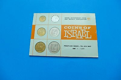 1966 Coins of Israel Proof-like issue-Tel Aviv Mint 6 coins
