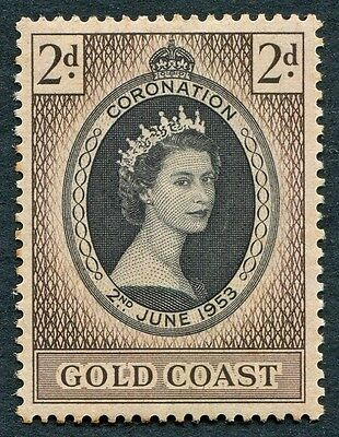 GOLD COAST 1953 2d black and sepia SG165 mint MH FG Coronation Omnibus b #W18