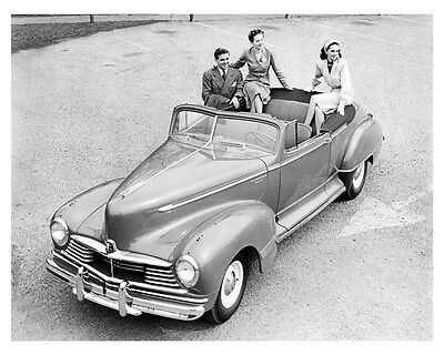 1946 Hudson Super Six Convertible ORIGINAL Linen-Backed Factory Photo oub5362
