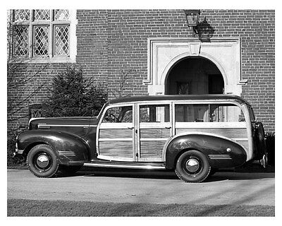 1942 Hudson Station Wagon ORIGINAL Linen-Backed Factory Photo oub5379