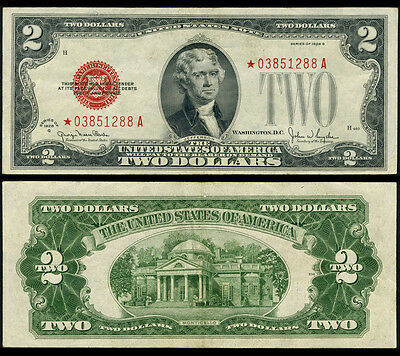 FR. 1508* $2 1928-G Legal Tender Extra Fine+ Star