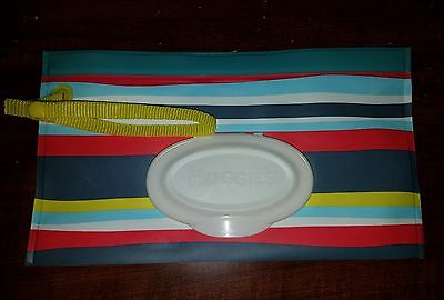 NEW Huggies Re-useable Travel Baby Wipe Clutch Stripes EMPTY