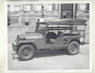 1955 ? Willys Military Jeep Extended Wheelbase ORIGINAL Factory Photo ww8098