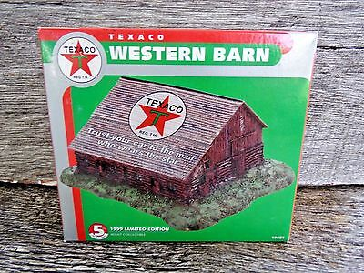 TEXACO Fuel Oil Gas WESTERN BARN Limited Edition Original Box Numbered Piece