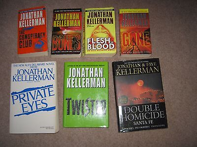Lot of 7 Jonathan Kellerman Thrillers Alex Delaware Gone Twisted Bones FleshBloo