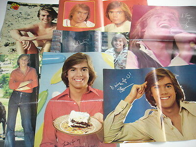 SHAUN CASSIDY teen magazine 2 page centerfold pinups LOT of 7 rare