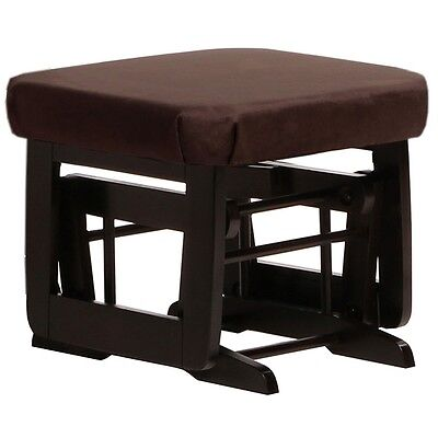 Dutailier Ultramotion Ottoman for Modern Glider- Espresso Finish and Chocolat Fa