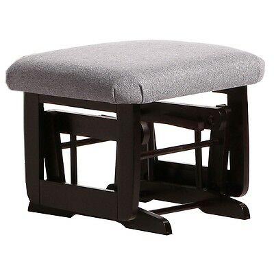 Dutailier Ultramotion Ottoman for Modern Glider- Espresso Finish and Dark Grey F