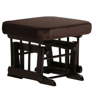 Dutailier Ultramotion Ottoman for Sleigh or 2 Post Glider- Espresso Finish and C