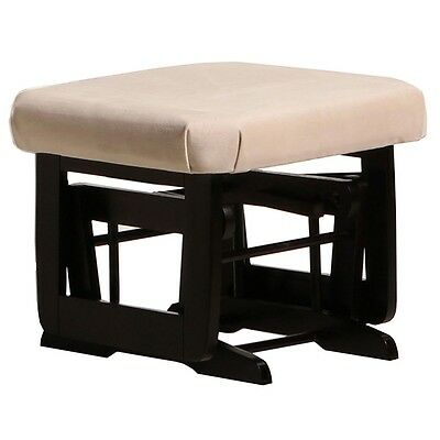 Dutailier Ultramotion Ottoman for Modern Glider- Espresso Finish and Light Beige