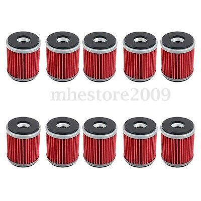 10pcs Oil Filter For Yamaha WR250F WR450F YZ250F YZ450F