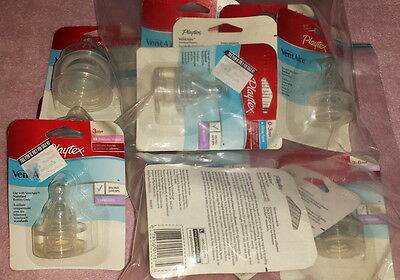 Playtex VentAire Silicone Nipple Slow Medium Fast - Standard Wide YOU CHOOSE LOT